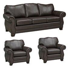 Huntington Italian Leather Sofa and 2 Chair Set