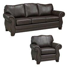 Huntington Italian Leather Sofa and Chair Set