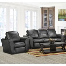 Delta Italian Leather Sofa and Chair Set