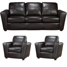 Delta Italian Leather Sofa and 2 Chair Set