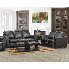Delta Italian Leather Sofa and Loveseat Set