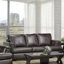 Royal Cranberry Italian Leather Sofa