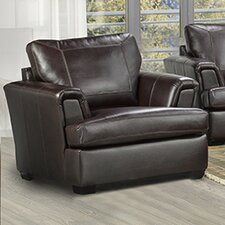 Royal Cranberry Italian Leather Arm Chair