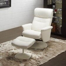 Perry Recliner and Ottoman (Set of 2)