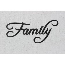 Family Word Sign Fancy Script Wall Décor
