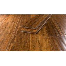 "5 5/8"" Barnwood Strand Bamboo Hardwood Flooring in Caramel"