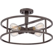 New Harbor 4 Light Semi-Flush Mount