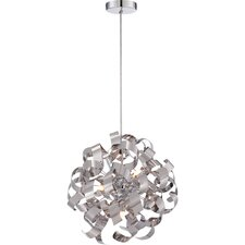 Ribbons 5 Light Globe Pendant