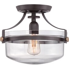 Uptown Penn Station 1 Light Semi Flush Mount