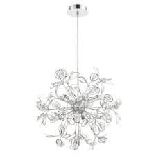 Crystal Leaf 8 Light Pendant