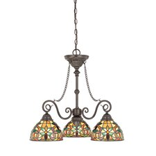 Kami Three Light Chandelier in Vintage Bronze