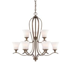 Sophia 9 Light Chandelier in Palladian Bronze