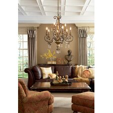 Marquette Two Tier Chandelier with 9 Uplights in Heirloom