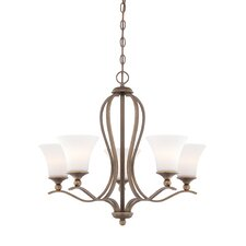 Sophia 5 Light Chandelier in Palladian Bronze
