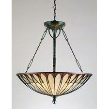 Alhambre 4 Light Tiffany Inverted Pendant