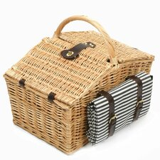 Somerley Willow Picnic Hamper for Four People with Matching Blanket