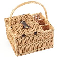 Windsor Willow Picnic Hamper for Four People