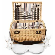 Oxford Willow Picnic Hamper for Four People