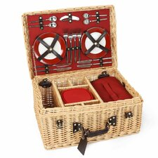 Blenheim Willow Picnic Hamper for Four People