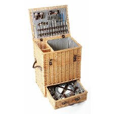 Carlton Willow Picnic Hamper for Four People