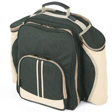 Super Deluxe Picnic Backpack Hamper for Four People