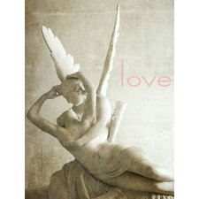 Feminine/Romance Cupid's Kiss Graphic Art on Wrapped Canvas