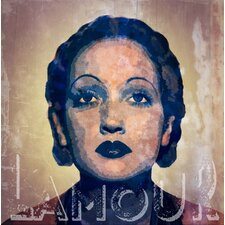 Feminine 'Lamour' Painting Print on Wrapped Canvas