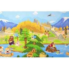 Let's Go Camping Baby Playmat
