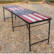 U.S. Flag Portable Beer Pong Table