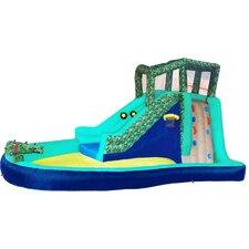 Inflatable Safari Splash with Lited Slideway Game