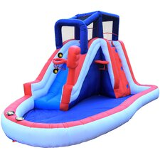 Inflatable Liberty Slam Dunk Slide with Lited Slideway Game
