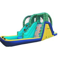 Inflatable Twin Pool Rainforest Adventure with Lited Slideway Game
