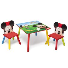 Mickey Children 3 Piece Square Table and Chair Set