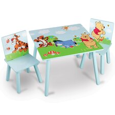 Winnie The Pooh Children 3 Piece Square Table and Chair Set
