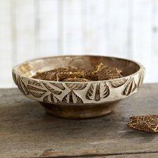 Fair Trade Carved Mango Wood Bowl