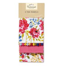 Floral Romance 3-Piece Tea Towel Set