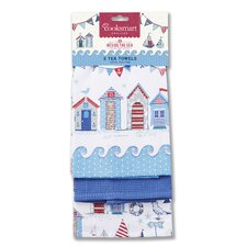 Beside The Sea 3-Piece Tea Towel Set