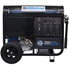 7,500 Watt CARB Electric Start Portable Gasoline Generator