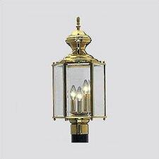 Brass Guard Lanterns 3 Light Post Light
