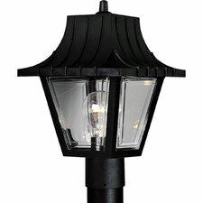 Mansard Roof 1 Light Post Light