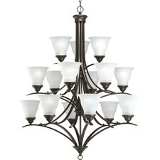 Trinity Fifteen Light Three Tier Chandelier in Antique Bronze