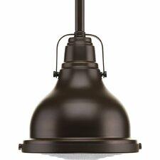 Fresnel Lens 1 Light Schoolhouse Pendant