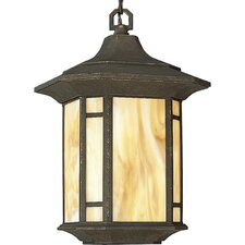 Arts and Crafts 1 Light Outdoor Hanging Lantern