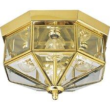Beveled Glass 4 Light Flush Mount