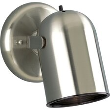 50W  Round Back Directional Wall Sconce  in Brushed Nickel
