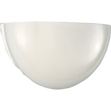 White Glass Quartersphere Incandescent Wall Sconce