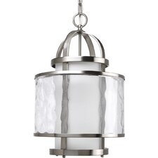 Bay Court Pendant in Brushed Nickel