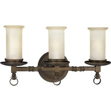 Santiago 3 Light Roasted Java Kitchen Island Pendant