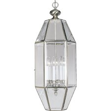 Beveled Glass 6 Light Foyer Pendant