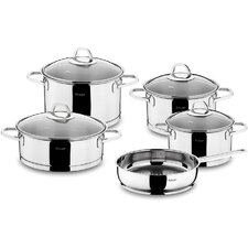 Rio 9 Piece Stainless Steel Cookware Set